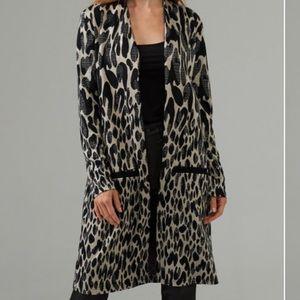 Animal Print Cozy Soft Long Cardigan size 2